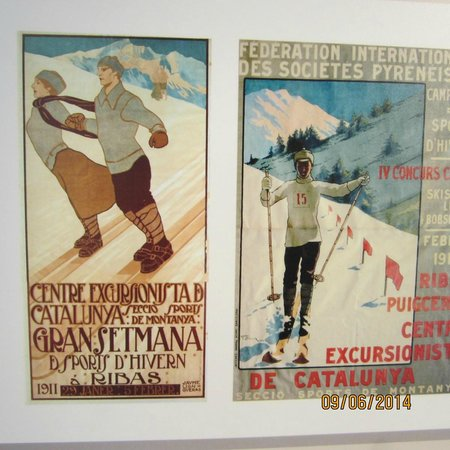 Valle de Núria: Period Post Cards -- Skiing in the 1930s, Vall Nuria