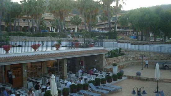 La Pergola: View of the restaurant from our balcony (Room 507)