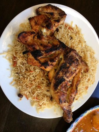 Chicken al faham with rice picture of al taiba bukhari for Afghan cuisine manchester