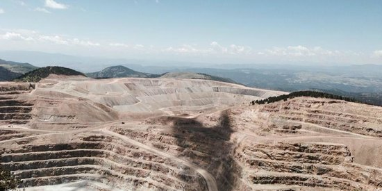 American Eagles Overlook and Historic Mine: You can see the two trucks in the distance that cross each other.