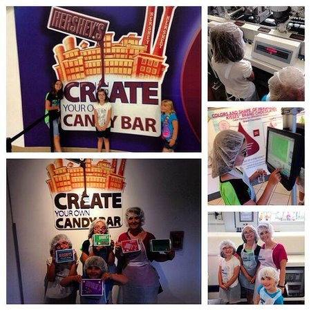 Hershey's Chocolate World: #TripleA at Chocolate World and creating their own candy bar!