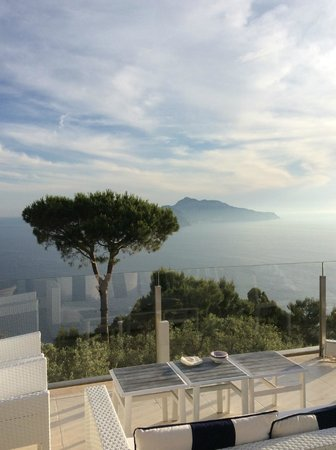 Relais Blu Belvedere: Vue depuis Restaurant sur Capri