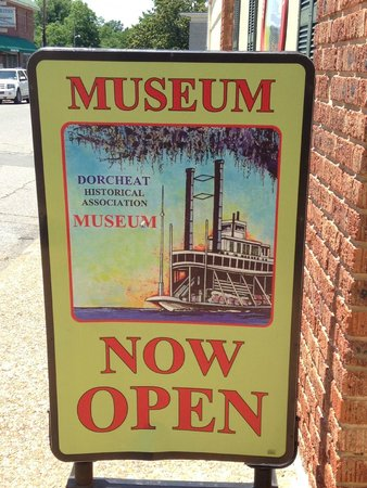 Dorcheat Historical Museum: A sign out front