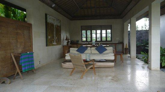 Chapung SeBali Resort and Spa : 餐厅以及客厅