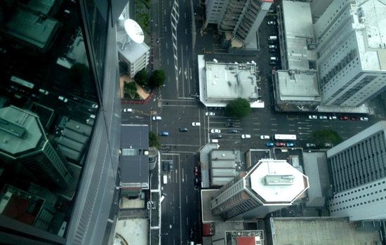 Sky Tower: the glass floor view