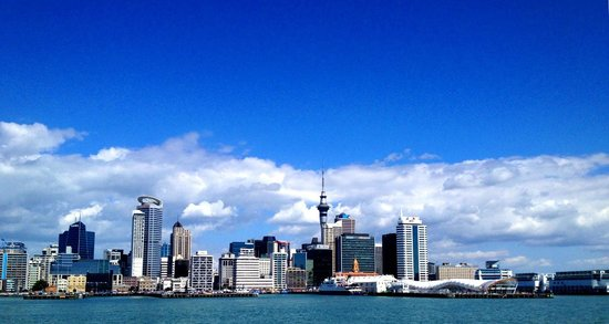sky tower - view from a boat
