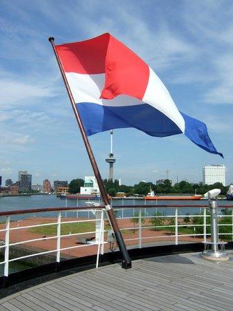 SS Rotterdam: View from promenade deck