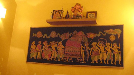 Curry Insel: Wall design in back room