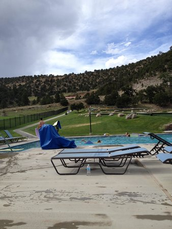 Mount Princeton Historic Bath House & Hot Springs: my daughter had fun on the slide