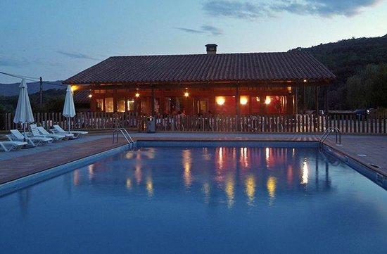 Camping Montagut : Piscina y bar/restaurante