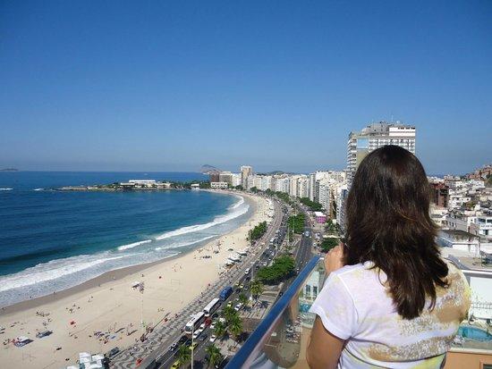 Pestana Rio Atlantica Hotel: Vista da Cobertura - deck bar