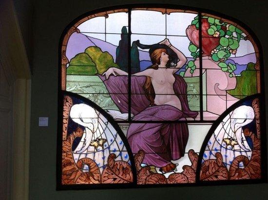 Musée de l'École de Nancy : Vitrail Henri Bergé Art Nouveau Nancy