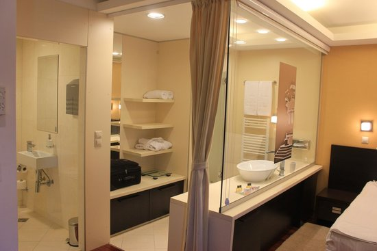 City Boutique Hotel : Patial view of the bathroom area.