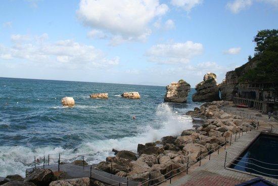 Capo La Gala Hotel: Vue depuis piscine