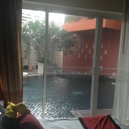 The Small, Krabi: View of the pool from my balcony