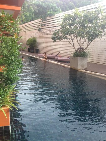 The Small, Krabi: View of the lap pool