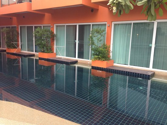 The Small, Krabi: View from across the lap pool overlooking my room