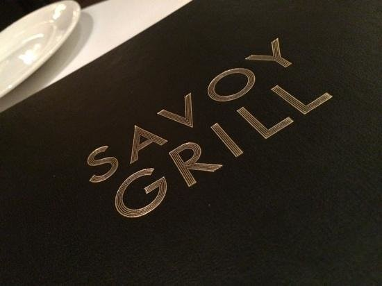 The Savoy Grill : menu cover