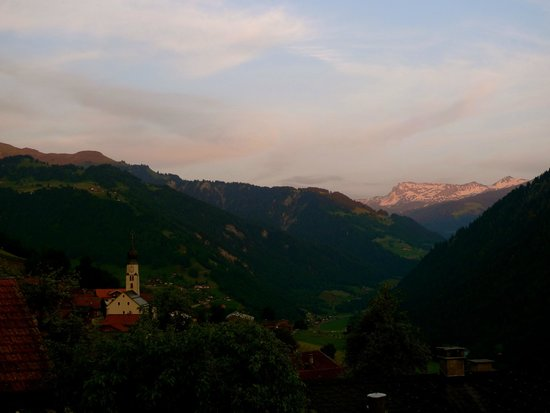 Gasthaus Alpina: View over Fanas from the Terrace