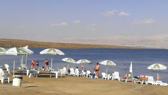 Kalia Guest House: The beach on The Dead Sea