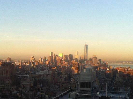 The New Yorker A Wyndham Hotel: Blick aus unserem Zimmer vom 39. Stock aus Richtung downtown
