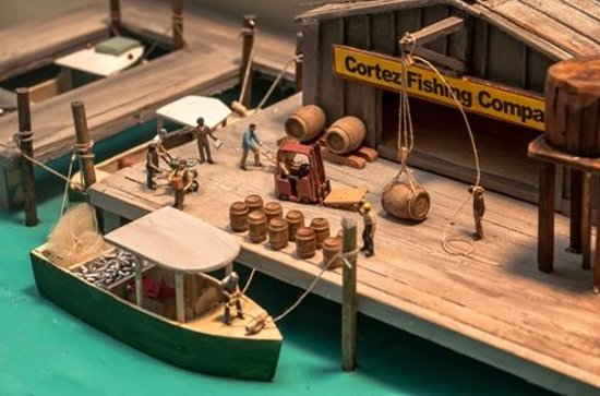 Diorama of Historic Cortez Waterfont