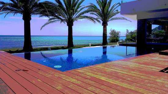 Mel Beach Hotel & Spa: Aussenterrasse