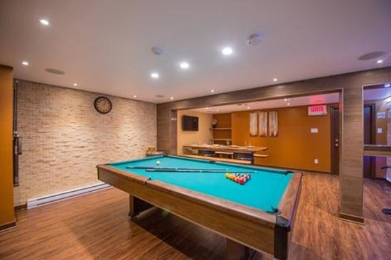 Auberge St. Jacques: Pool table in a Private Sauna