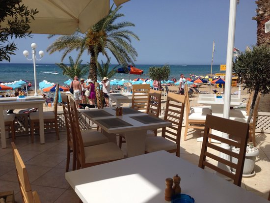 Anatolia : View from the restaurant to the beach