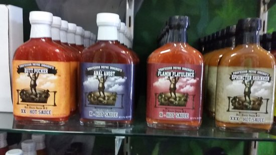 Peppers of Key West: funny named sauces