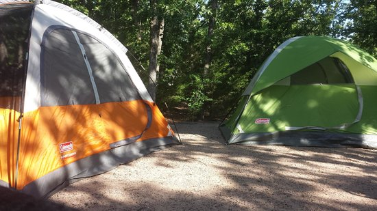 Chickasaw National Recreation Area: Two of the three tents that we used...