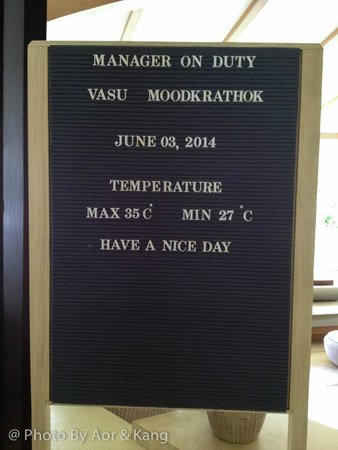 Mercure Koh Chang Hideaway Hotel: มีป้ายบอกอุณหภูมิด้วย