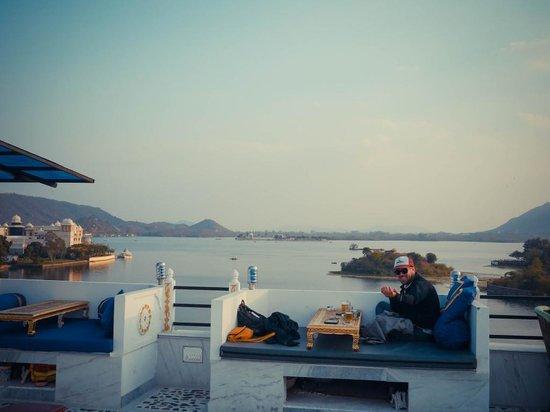 Sargam Sadan: Lovely rooftop relaxing areas