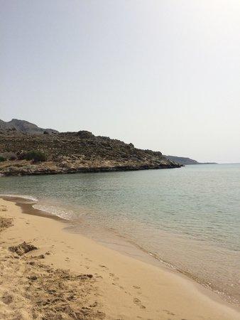 Agathi Beach: Golden sand