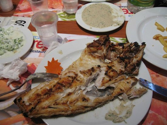 Fares Seafood : Cernia al forno senza salse
