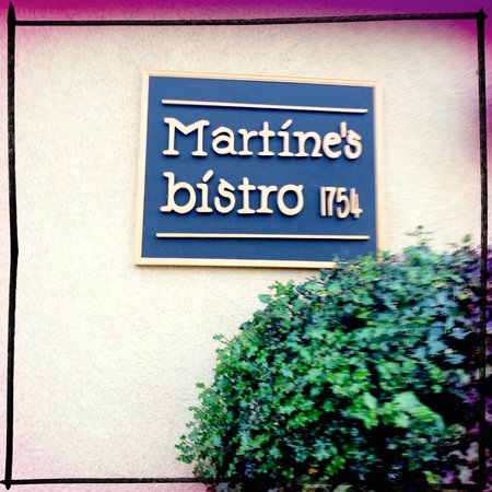 Martine's Bistro : Outside of the restaurant.