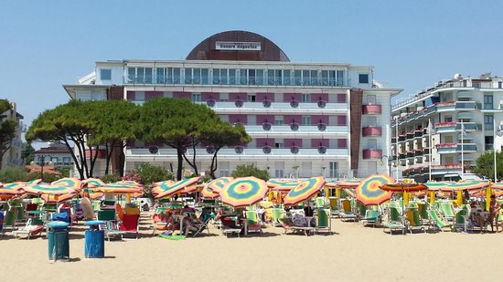 Hotel Cesare Augustus: view from the beach