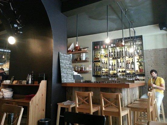 Zinfandel Food & Wine Bar: The bar.  Sax player setting the mood
