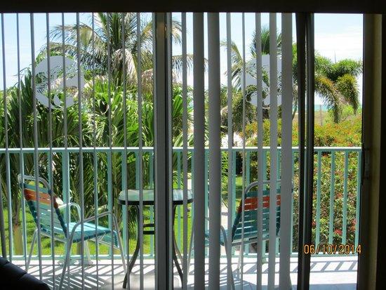 South Beach Condo/Hotel: View of private balcony.