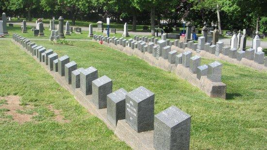 Fairview Lawn Cemetery: Gravplads for de omkomne på Titanic i 1912