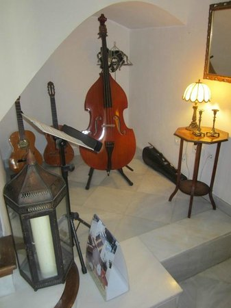 Hotel Amadeus: String instruments in the Lobby area