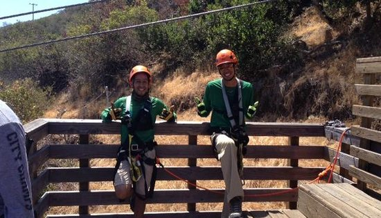Catalina Zip Line Eco Tour: Ray and Russell