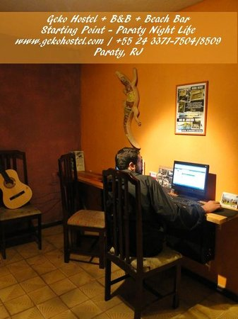 Geko Hostel Paraty: Free internet