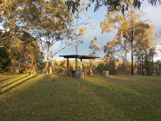 Spicers Vineyards Estate: The primative but striking picnic table
