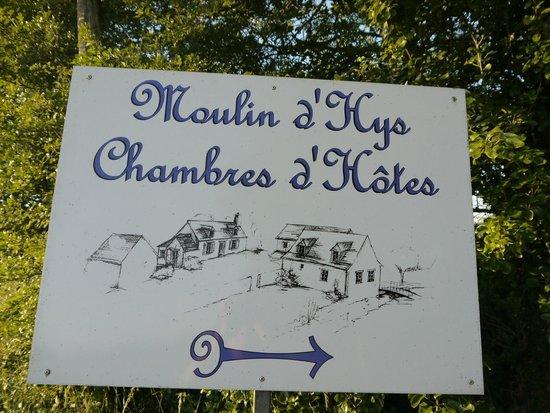 Moulin d'Hys: 目印の看板