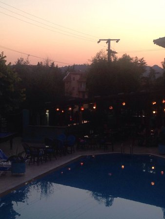 Balkaya Hotel: View from our balcony at sunset