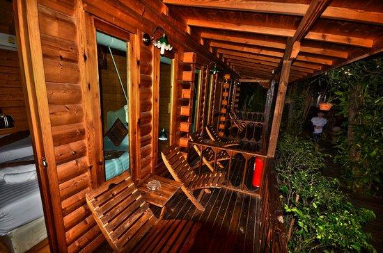Log Home Boutique Hotel : terrasse