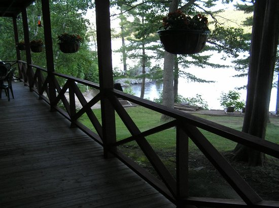Northern Lake George Resort: View from porch of hotel room