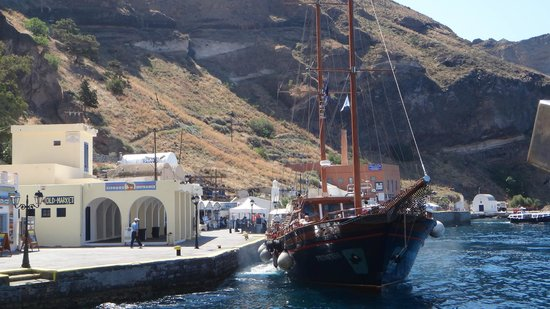 Santorini Volcano: One of the boats for the Volcano trip