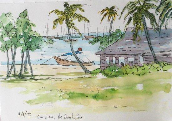 Calabash Luxury Boutique Hotel: Pen and Ink sketch.